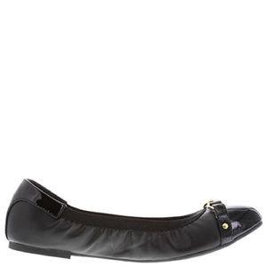 Deflex Comfort Shoes - Deflex Comfort   Women's Black/Gold Blaire Flat